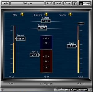 Ünlü plug-in firması Waves'in meşhur Renaissance Compressor'ü. Bir stüdyonun olmazsa olmazlarından. Cubase, Pro Tools, Logic ve tüm diğer DAW'larda çalışır.