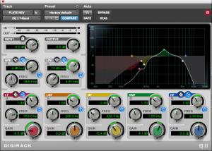 Yukarıdaki reverb'ün çıkışına koyduğum EQ'nun ekran görüntüsü. Bas, low mid ve tizleri bir güzel trashlayıp vokalin en belirgin olduğu mid frekansları biraz öne çıkardım.