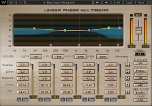 Bazılarına göre mastering için vazgeçilmez olan plug-in'lerden biri: Waves Linear Phase Multiband Compressor