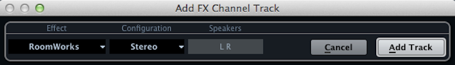 Cubase Add FX Channel